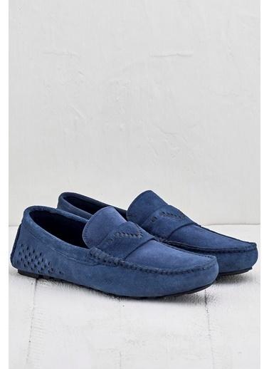 Elle %100 Deri Loafer Ayakkabı Mor